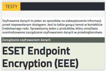 testy ESET Endpoint Encryption