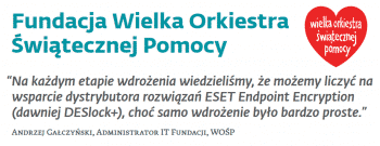 Eset Endpoint Encryption w WOŚP